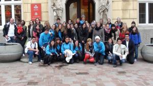 I Cumbre-Encuentro en el Instituto Cervantes de Cracovia. Alumnos del IES1 Libertas de Torrevieja y del Liceo Bilingüe Adam Mickiewicz